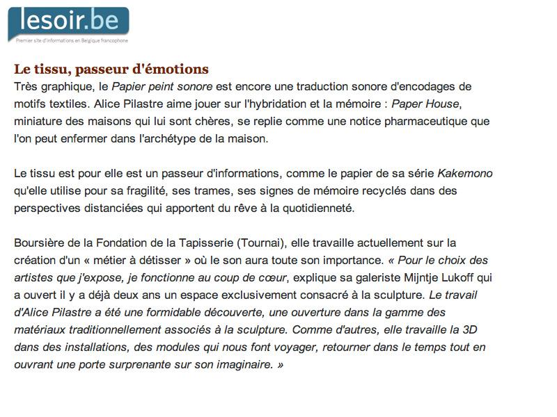 Le soir.be _21 mars 2012